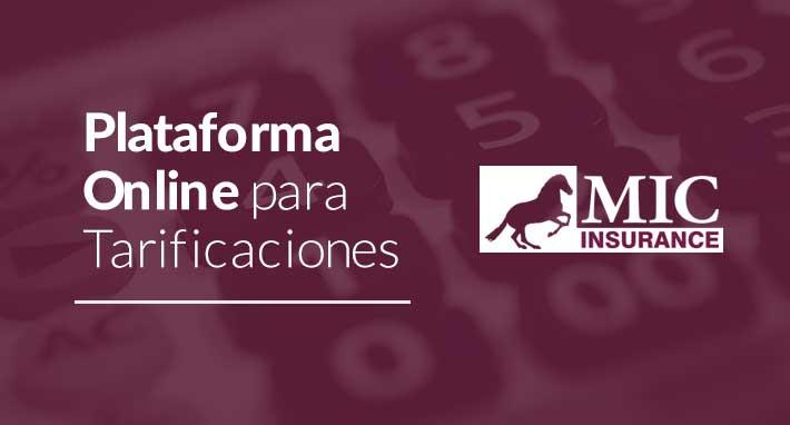 plataforma online para tarificaciones